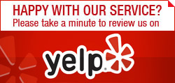 Please rate our services on Yelp!